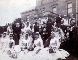 1900 Victoria Cochrane Wedding reception at Calderglen