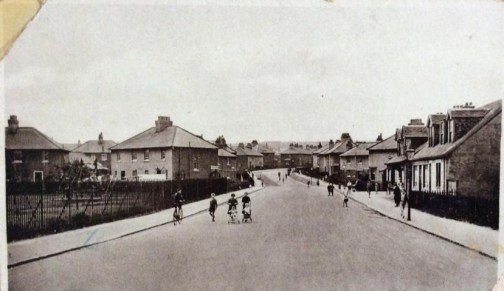1928 Victoria Street new housing and road