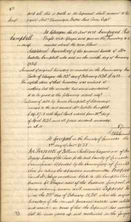 James Millars Inventory 1838 Part 1 of 5