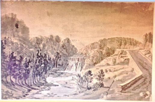 1755 Calderwood Linn by Paul Sandby