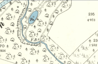 1898 Map near Calderside