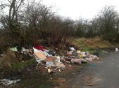 2015 Jan. Auchentibber fly tipping. (PV)