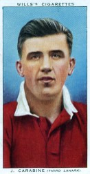 Jimmy Carabine Cigarette Card