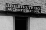 1908 Struthers brand new sign with old Spelling of Auchentibber