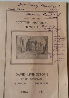 A 1940s 4th Edition of the David Livingstone Guidebook