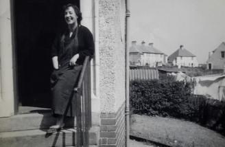 1959 Maise Gardner at Auchinraith Terrace