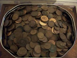 Old Pennies collected