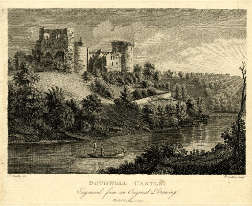 Bothwell Castle from Blantyre Priory 1770
