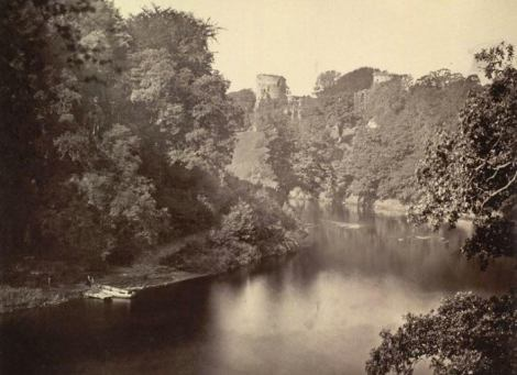 1870 Blantyre side on left, Bothwell on right. River Clyde.