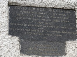 2015 The 1897 Commemorative Plaque on side of Shuttle Row by G Cook