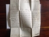 1806 Letter to Lord Blantyre, owned by PV