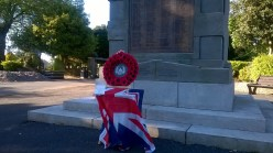 2015 10th June. Blantyre Cenotaph, remembering James Brown