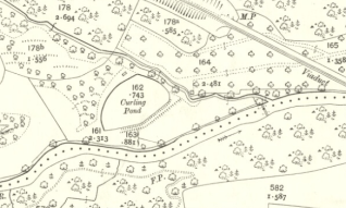 1910 Curling pond near Greenhall