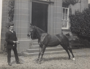 1920s Greenhall House. Horse called
