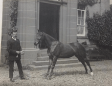 """1920s Greenhall House. Horse called """"The Nut"""". Shared by June Hislop"""