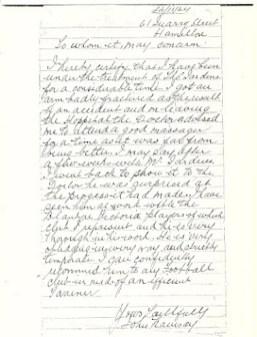 1924 Recommendation letter