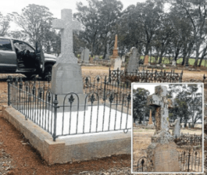 2015 Father Frawleys grave is now restored