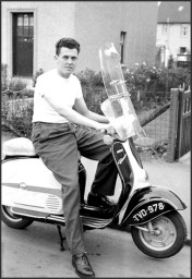 1950s James Graham on his scooter at Cowan Wilson Avenue.