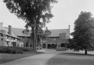 1903 Rare photo of rear of Blantyre hotel, Lennox MA