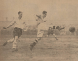 1933 Hogmanay Vics Striker Black hits one home