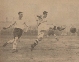 1933 Hogmanay Vics Striker Black hits one home