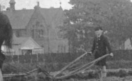 1940s Boy ploughing Wheatlandhead Farm