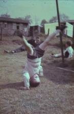 1963 Brian Young at Prefabs at Clyde Cres