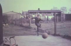 1963 Brian Young at Prefabs, Clyde Cresc
