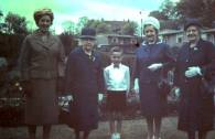 1965 Brian Young and family at Prefabs