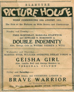 1955 Blantyre Picture House Advert