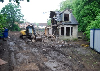 2008 May Demolition of Matt Boyles, HIgh Blantyre