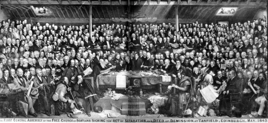"1843 Rev James Anderson amongst the ""disruption"""