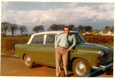 1970 Joe Veverka and his first car