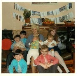 1971 Mary Duncan and grandchildren. (Veverka, Glen, Duncan, MacFarlane)
