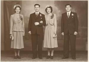 Late 1940s Donald Marshall wedding to Nettie