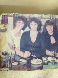 Isabel Wilson, May Cummiskey and Bridie Murray at Hasties Farm