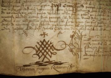 1542 Vellum Indenture document