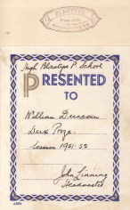 1951 Dux High Blantyre Primary, William Duncan