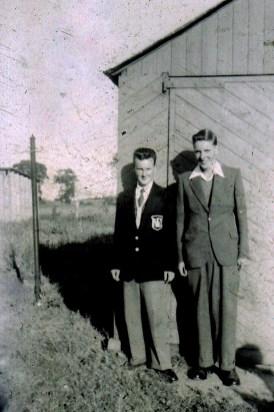 Mid 1950s Bill and John Duncan (friends) at Larkfield