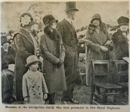 1929 David Livingstones family meet Duchess of York at Blantyre 12th Oct