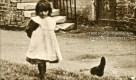 1900 Girl at Shuttle Row, Blantyre