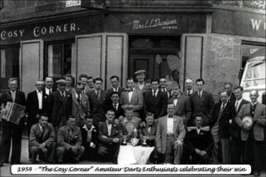 1954 Cosy Corner Darts team