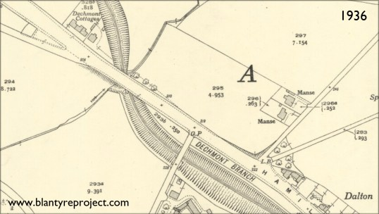 1936 Blantyre map
