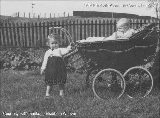 1949 Elizabeth Weaver & cousin Ian Scott