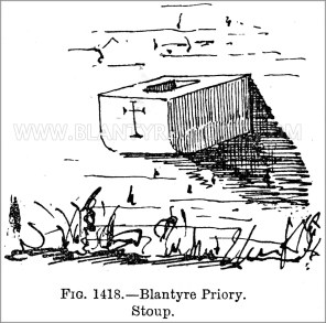 1897 Illustration Priory Stoup