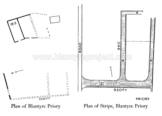 1930s plan of Priory Ruins Dr Wilson wm