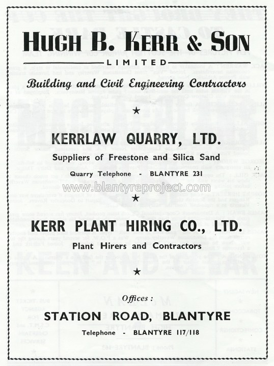 1950 Hugh b kerr advert wm