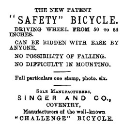 advert for bicycle