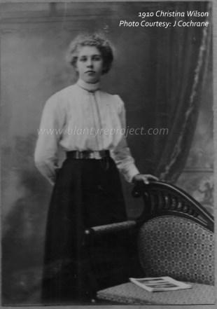 1910 Christina Wilson at Auchentibber Farm