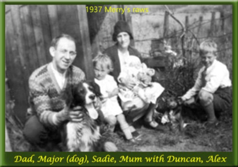 1937 Slater family at Merry's Rows